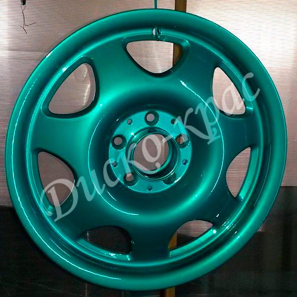 Покраска автомобильных дисков: штампованные